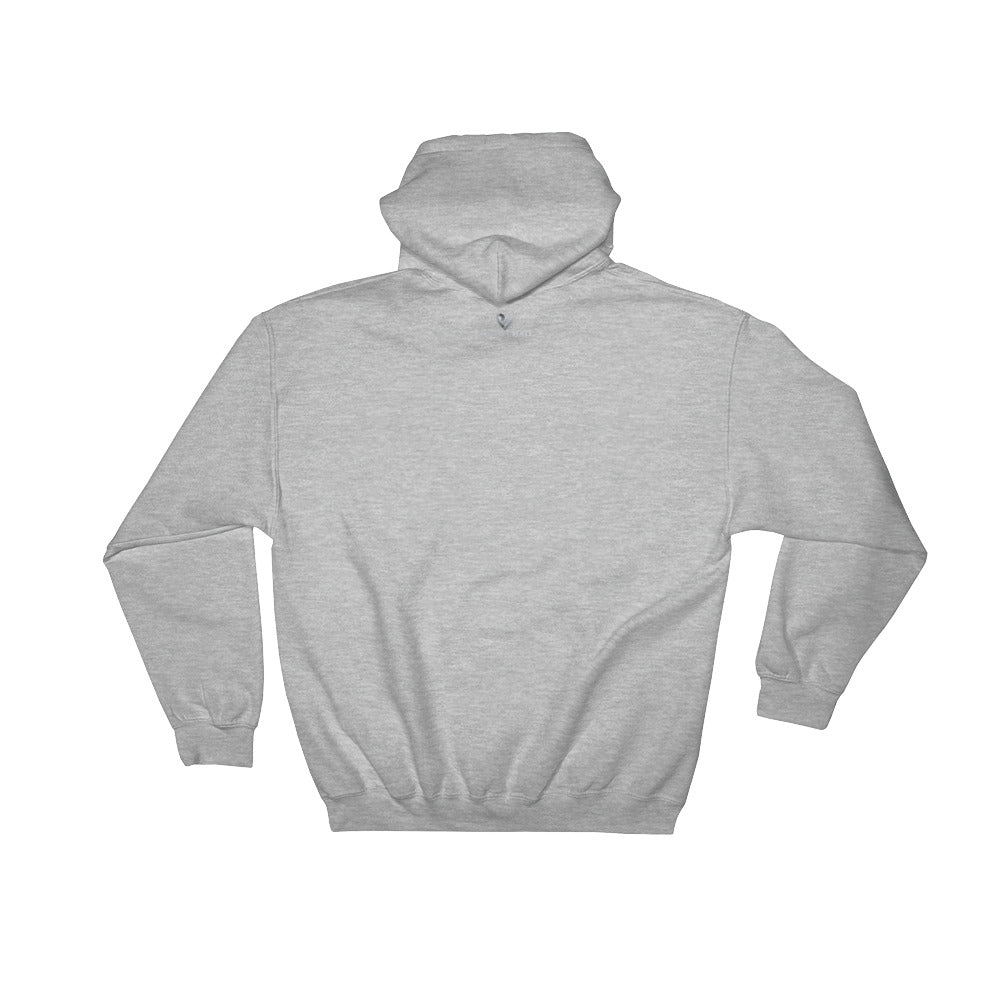 Positive Hate, Hate Addiction Gray Round Side - Hooded Sweatshirt