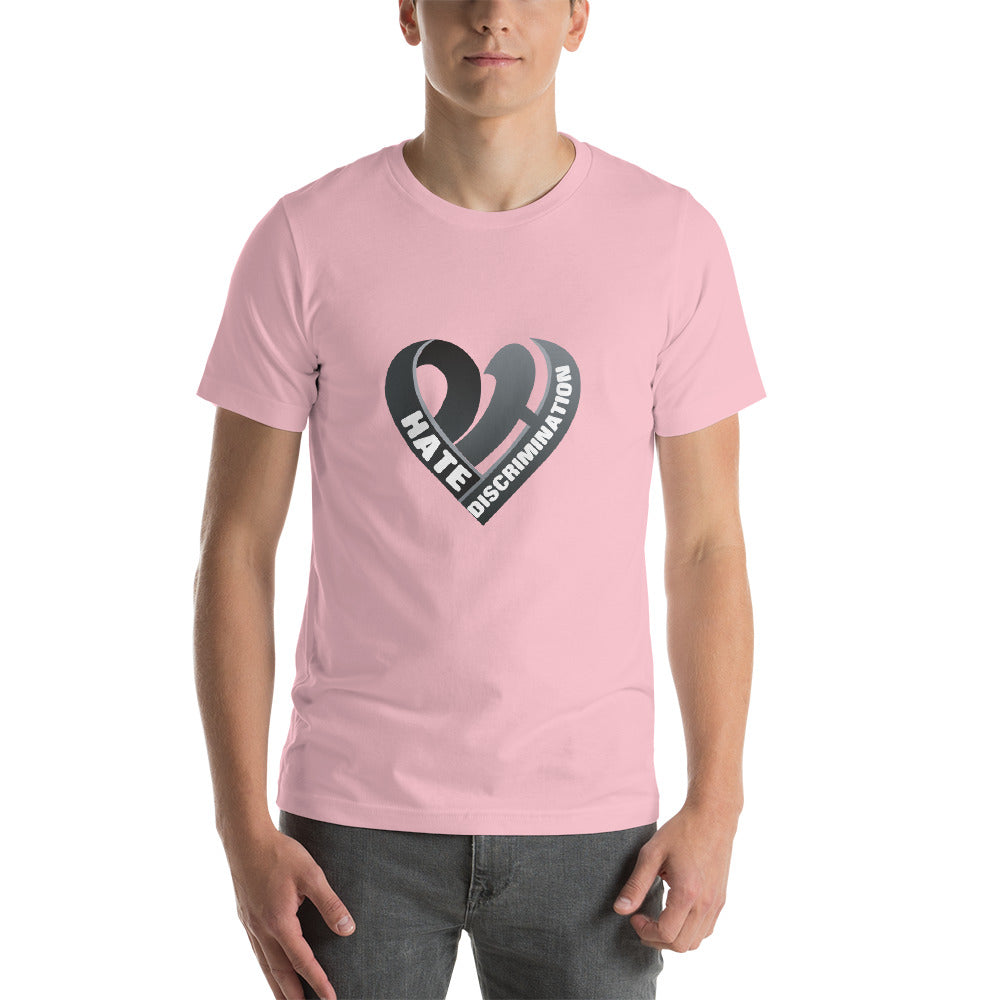 Positive Hate, Hate Discrimination Black Heart mid - T-shirt