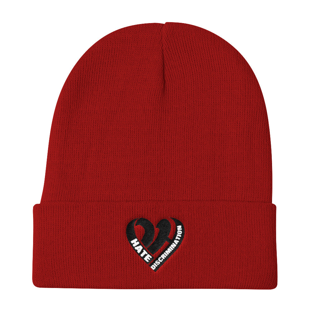 Positive Hate, Hate Discrimination Black Heart -  Beanie
