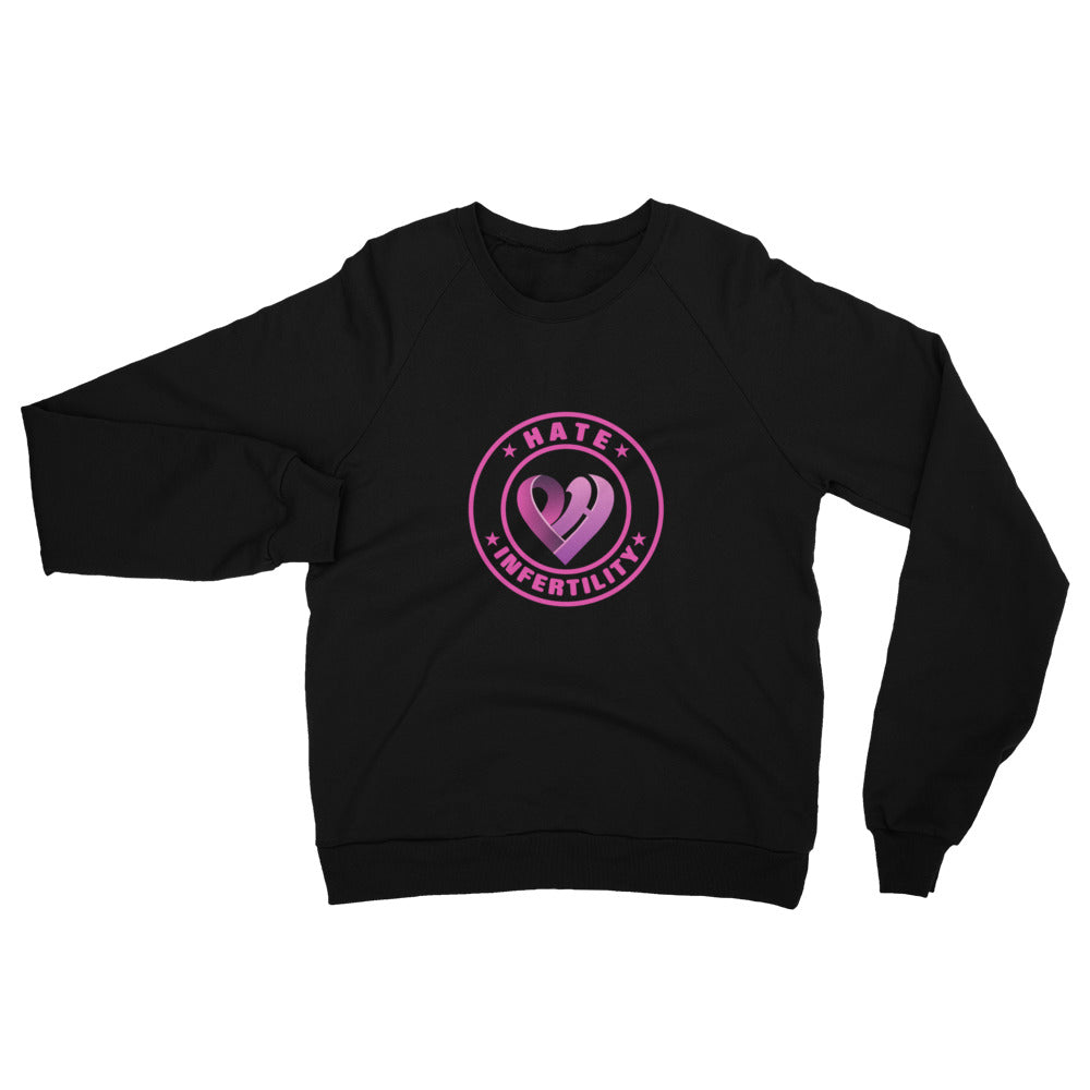 Positive Hate Infertility Pink Circle v2 Center - Raglan Shirts