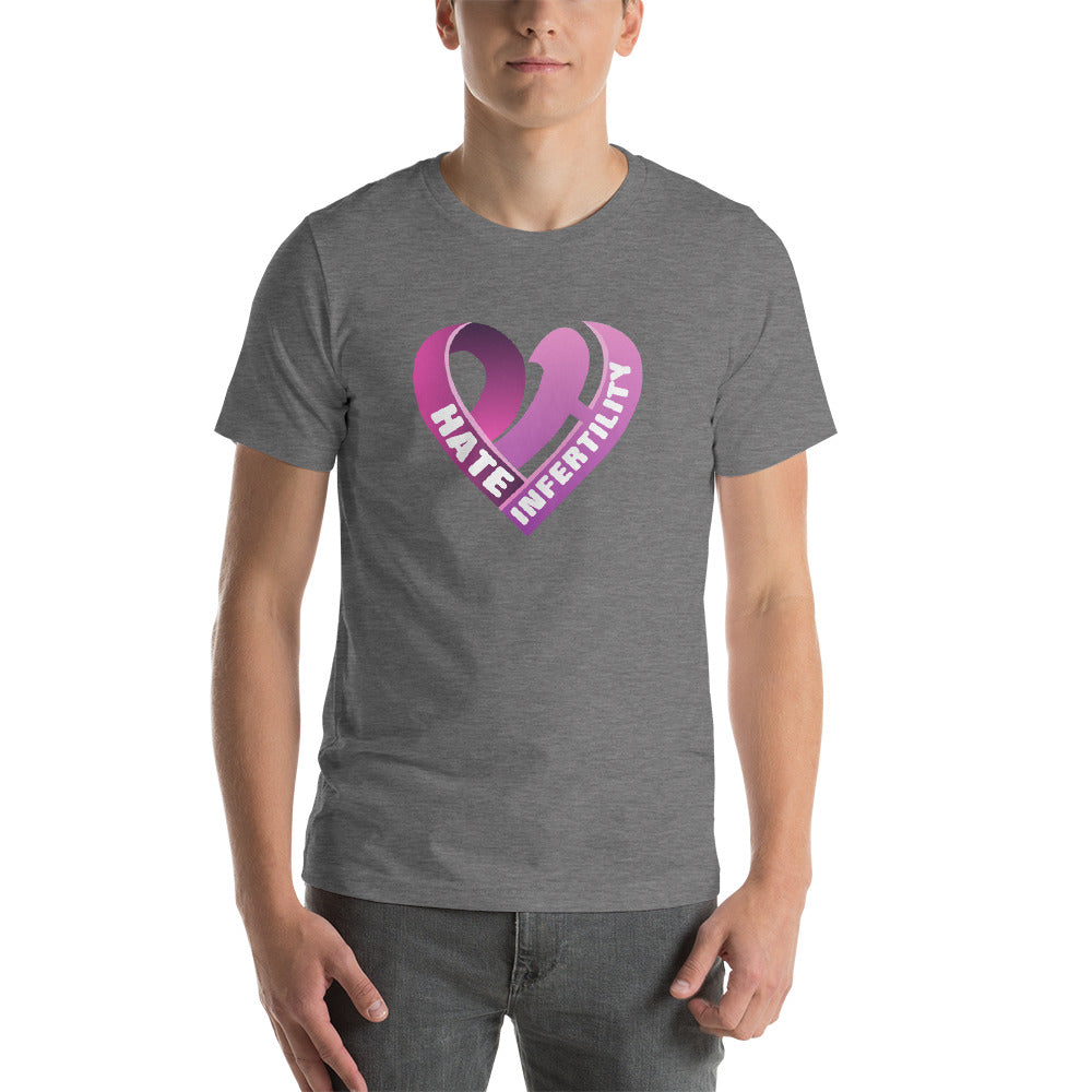 Positive Hate, Hate Infertility Pink Heart Middle - T-shirt