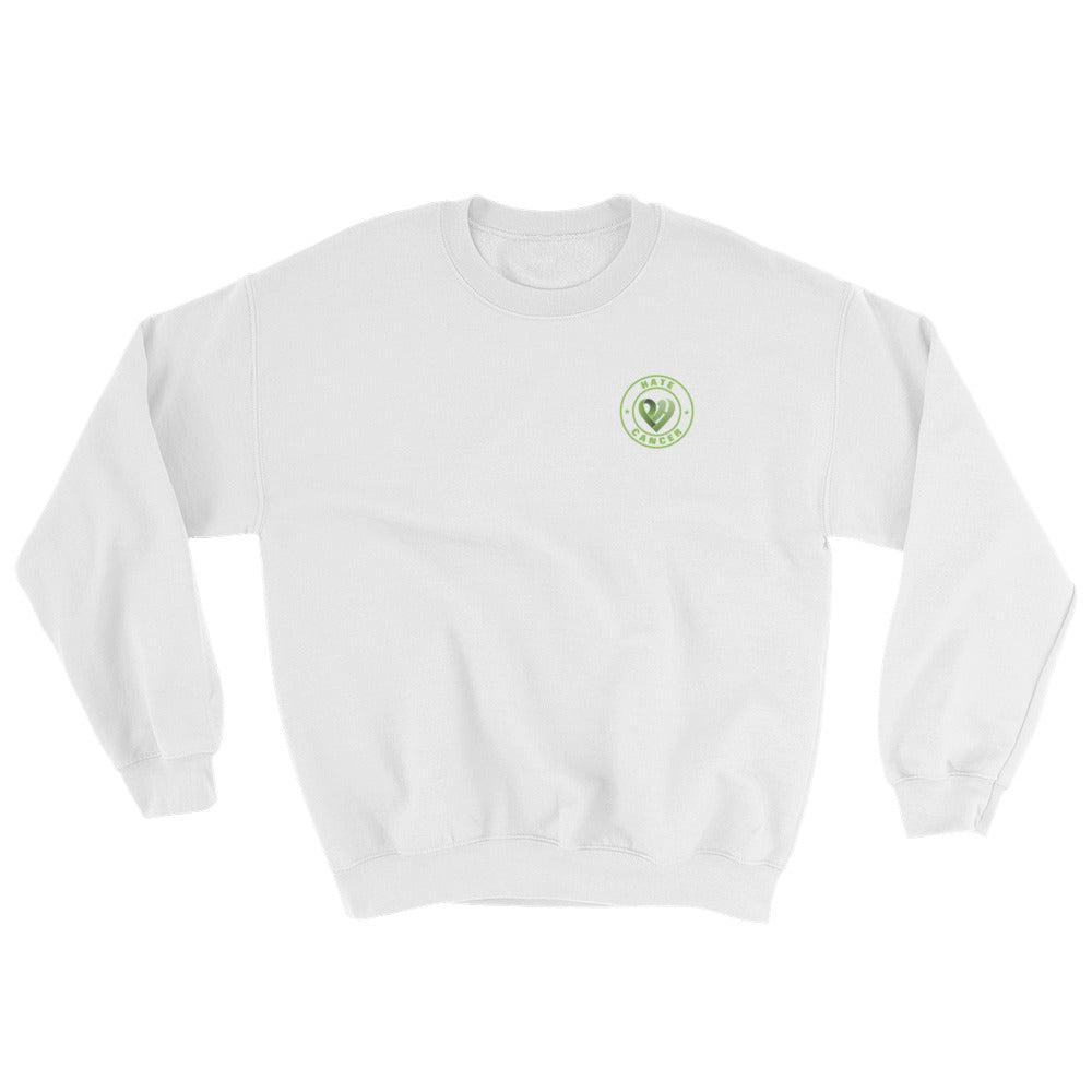 Positive Hate, Hate Cancer Green Round Side - Unisex Sweatshirts