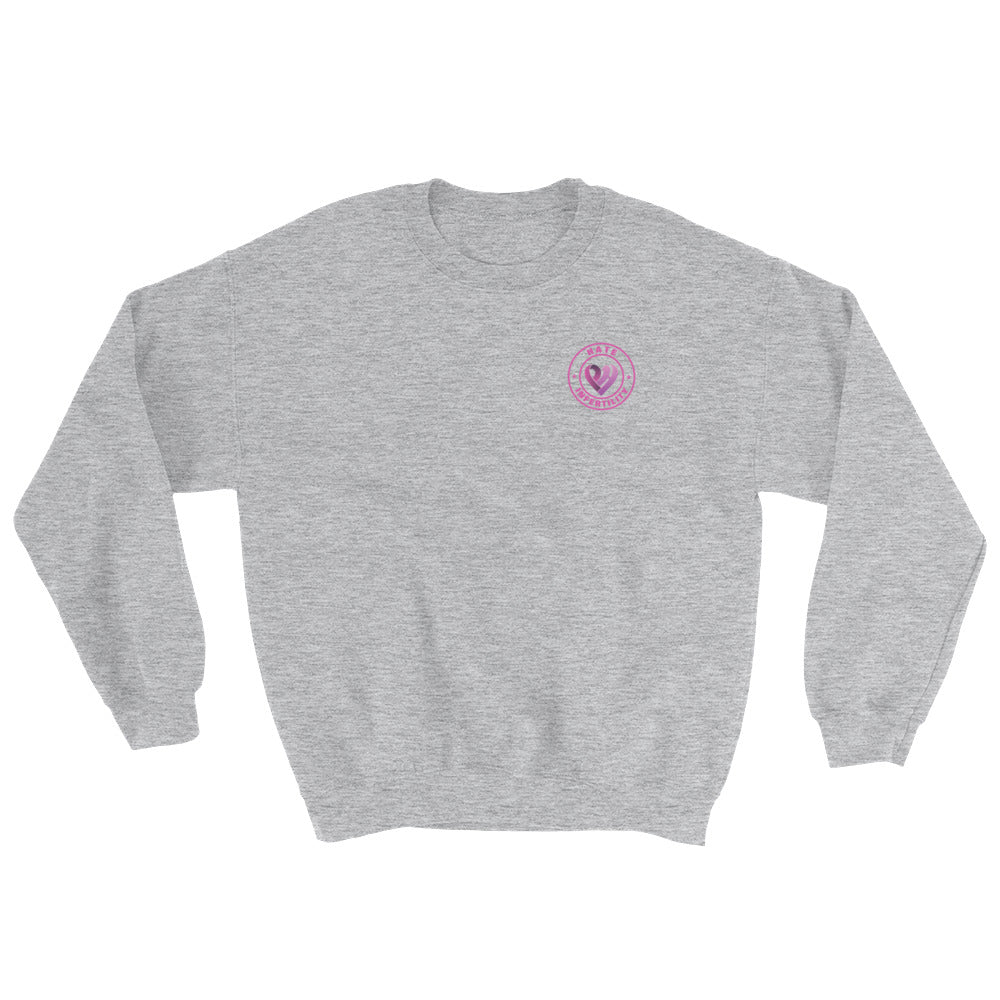 Positive Hate, Hate Infertility Pink Round Side - Unisex Sweatshirts