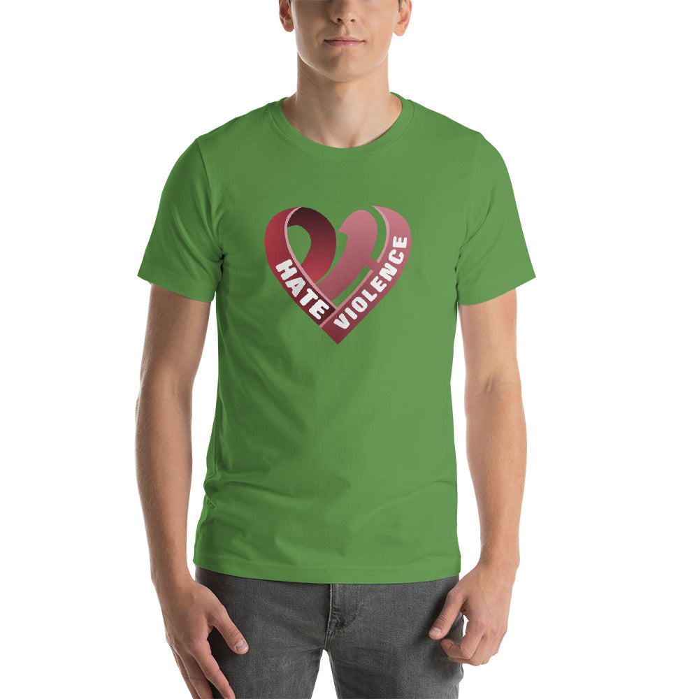 Positive Hate, Hate Violence Red Heart Middle - T-shirt