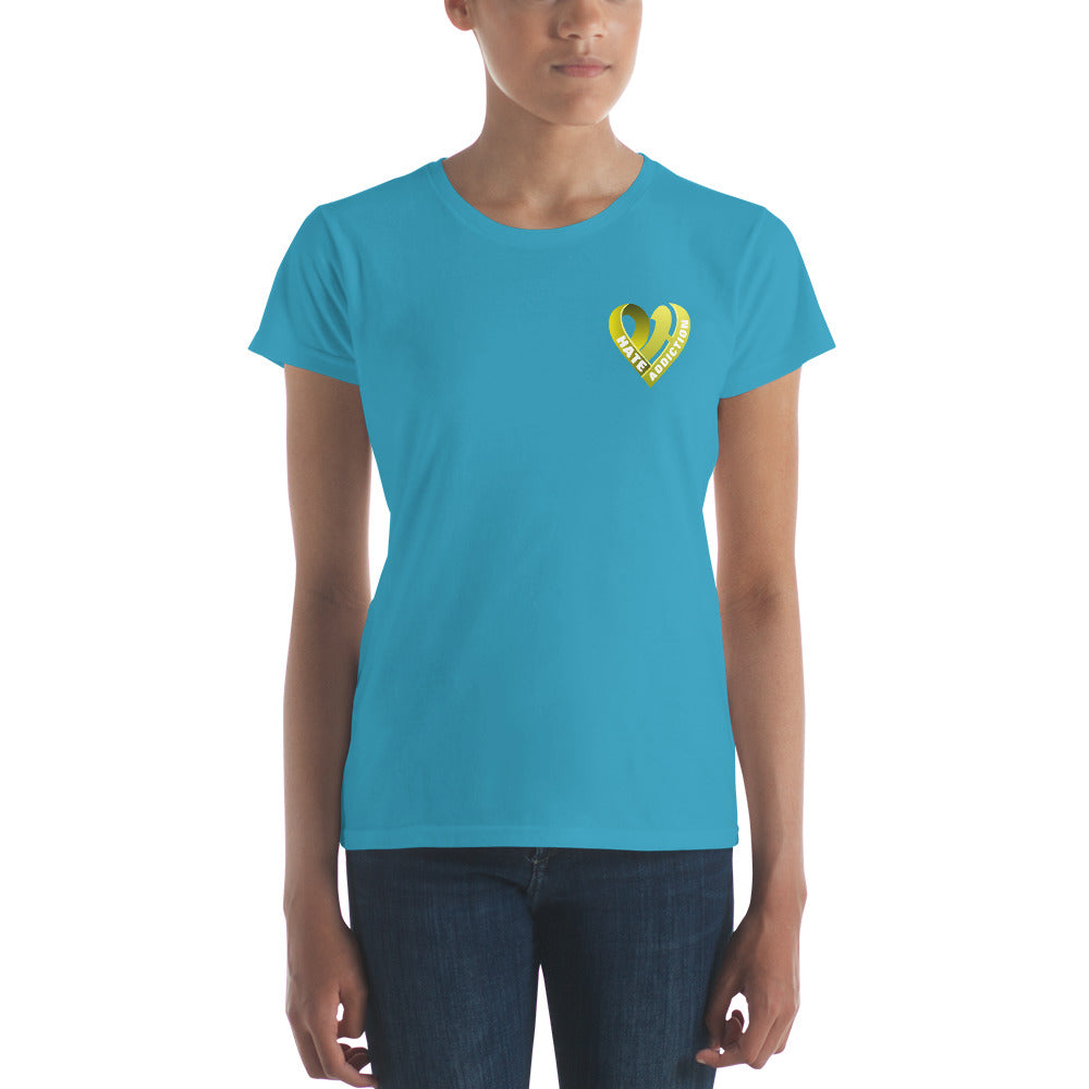 Positive Hate, Hate Addiction Yellow Heart Side -  Women's short sleeve t-shirt
