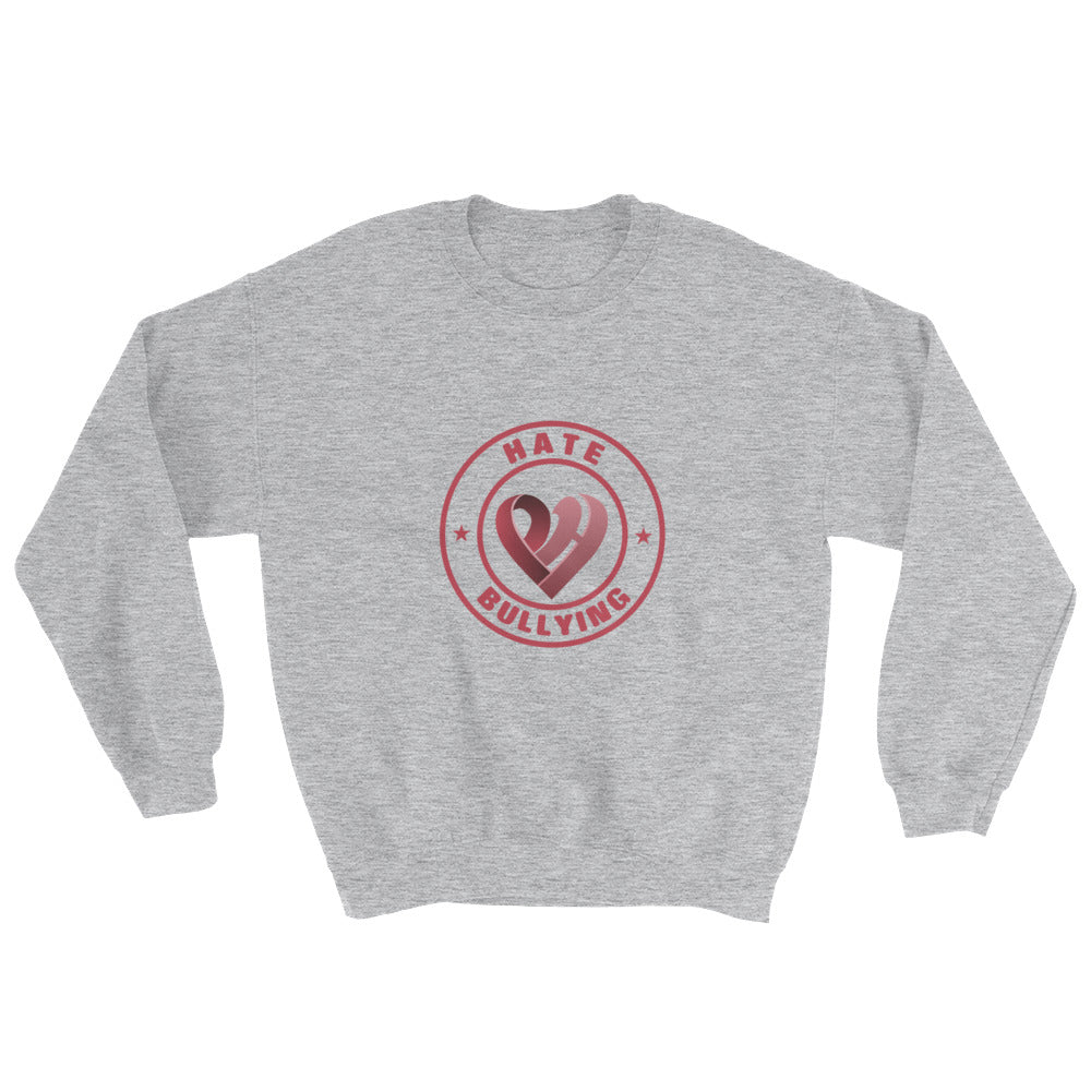 Positive Hate, Hate Bullying Red Round Middle - Unisex Sweatshirts