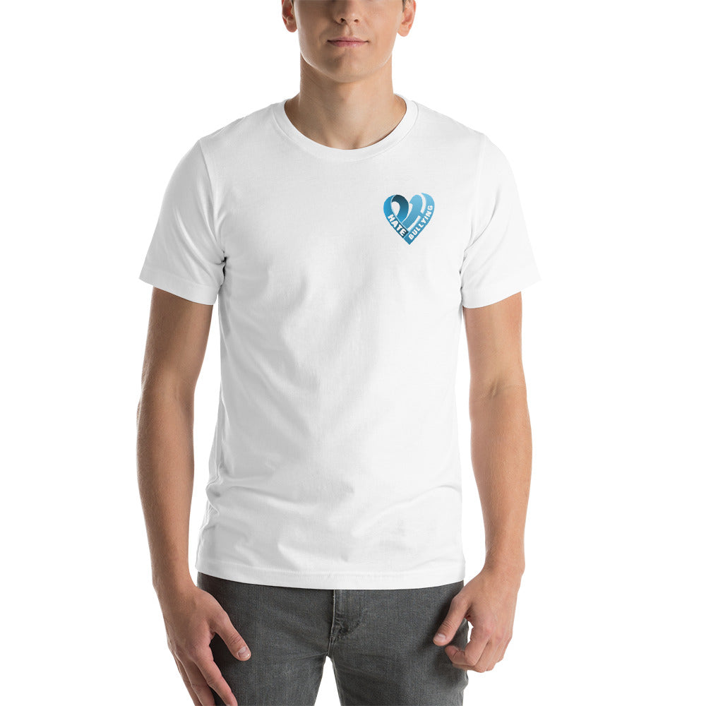 Positive Hate, Hate Bullying Blue Heart Side - T-shirt