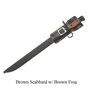 Bayonet  brown scabbard