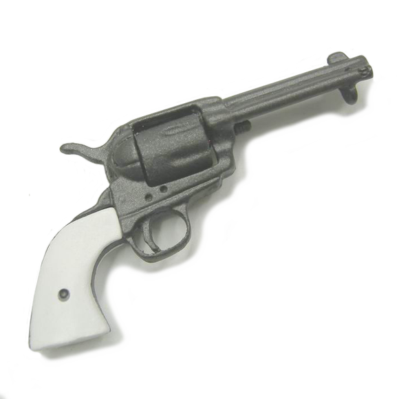Colt .45 Peacemaker (gunmetal w/white handle)