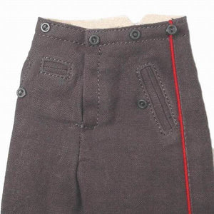WWI - German Trousers (stone grey w/ red stripe)