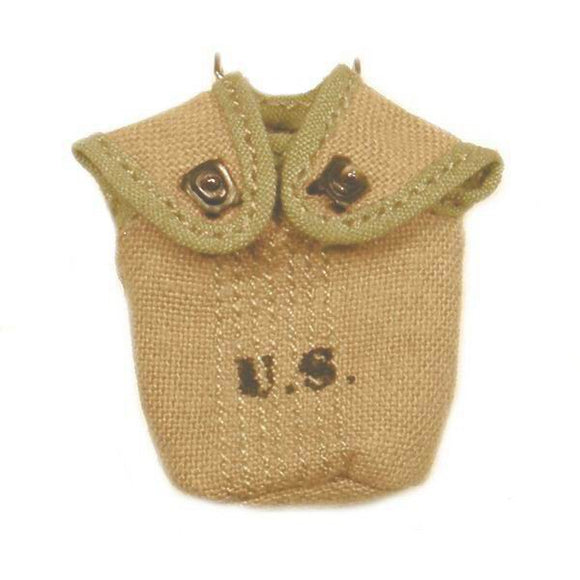 US - Canteen Cover (khaki w/olive trim)