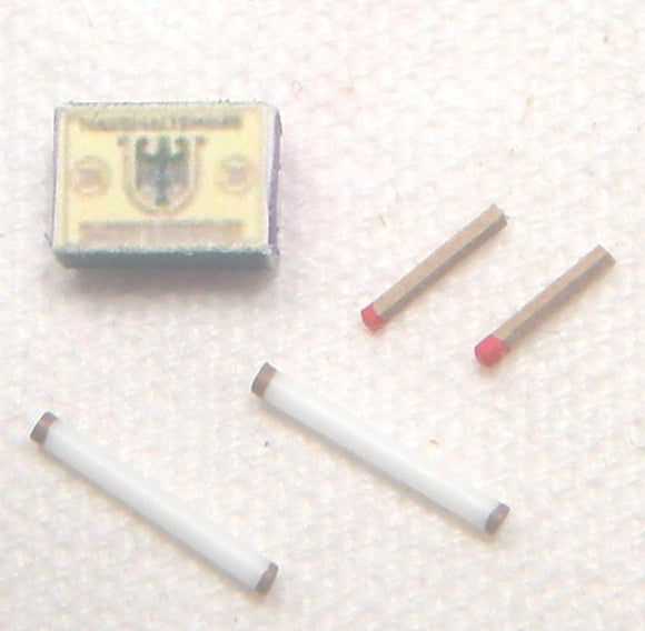 German - Cigarettes2 (x2 cigarettes. X2 matches. matchbox)