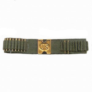 Spanish-American War - U.S. Mills Cartridge Belt (khaki w/Whitmore belt plate)
