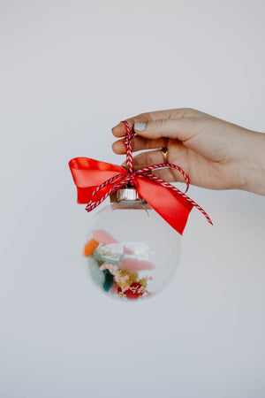 Small Dried Floral Globe Ornaments