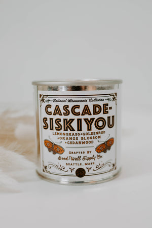 Cascade-Siskyou Candle- Lemongrass, Goldenrod & Orange