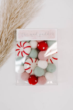 Peppermint Candy Felt Garland
