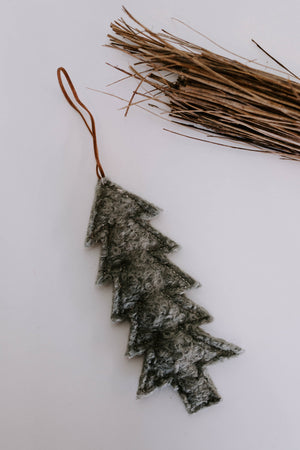 Boho Wool Tree Ornament