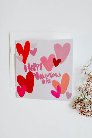 Daisied Happy Valentines Day Card