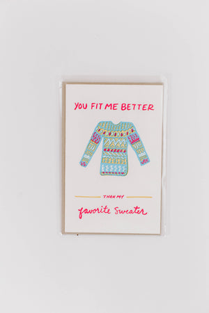 Favorite Sweater Greeting Card