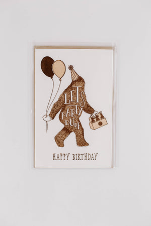 Happy Birthday Sasquatch Card