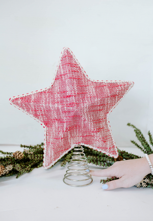 Red Cotton Star Tree Topper