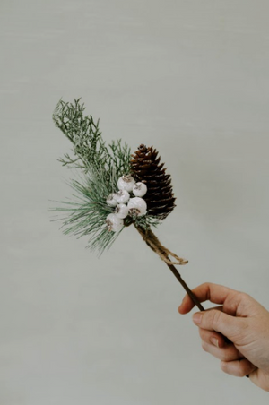 Glitter Berry Pinecone Pick