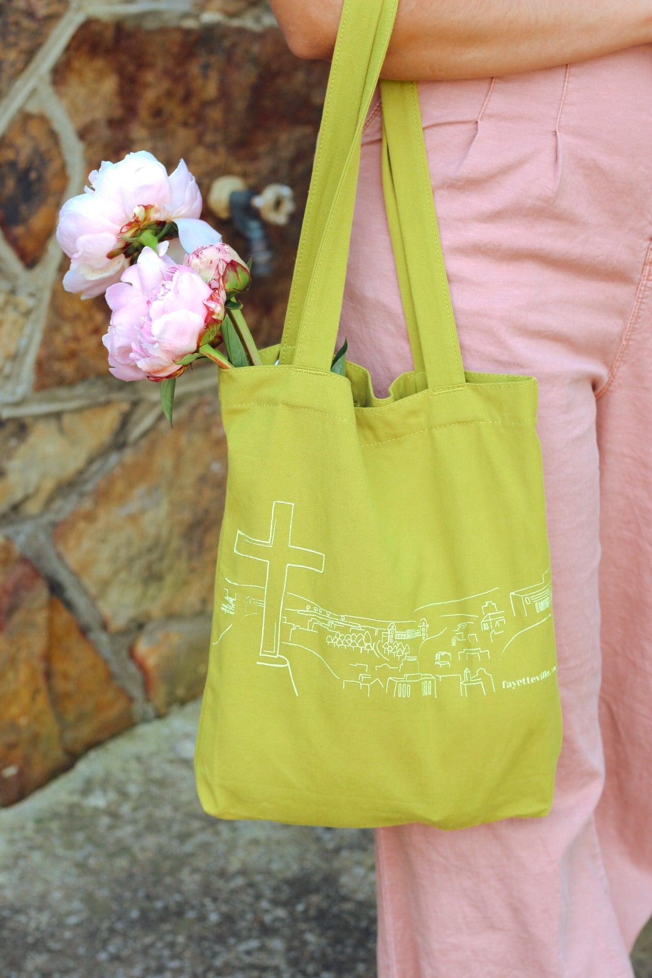 """Fayetteville Views"" Canvas Baggu Tote"