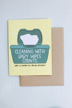 """Baby Wipes"" Card"