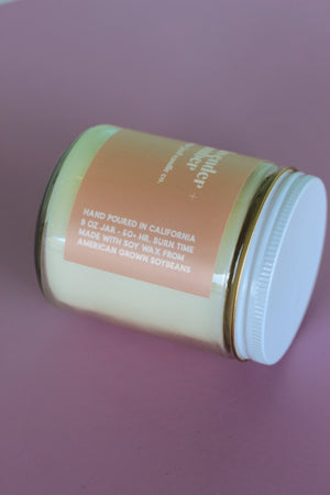 Ginger June Candle Co. - Lavender & Amber Candle, Modern Design
