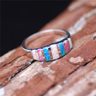 Multicolor Opal Ring