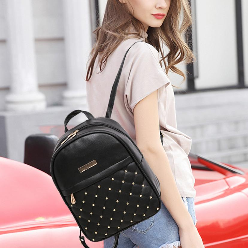 Faux Leather Designer Backpack
