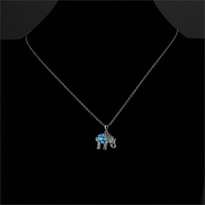 Glow-In-The-Dark Elephant Necklace