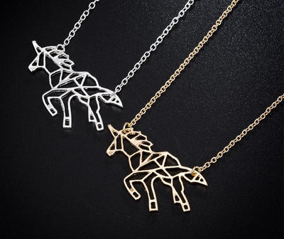 Vintage Running Horse Necklace