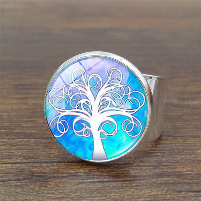 Tree of Life Glass Ring