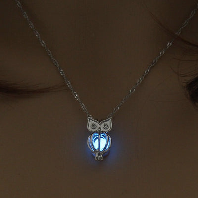 Glow-In-The-Dark Owl Necklace