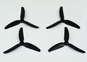 HQ Durable Prop Poly Carbonate 5X4.3X3V1S Tri Blade Propellers CW/CCW 1 Pack (4 Pieces)