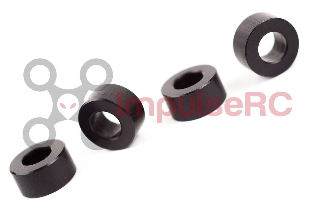 ALUMINUM M3 SPACER 3MM - BLACK - (4 PACK)