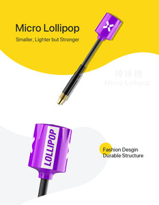 Foxeer 5.8G Micro Lollipop RHCP 2.5dBi High Gain Super Tiny FPV Omni Antenna