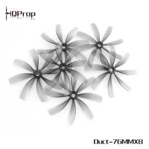 HQProp Duct-76MMX8 for Cinewhoop Grey (2CW+2CCW)-Poly Carbonate