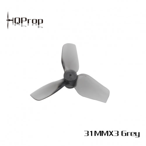HQ Micro Whoop Prop 31MMX3 (2CW+2CCW)-Poly Carbonate-1MM Shaft