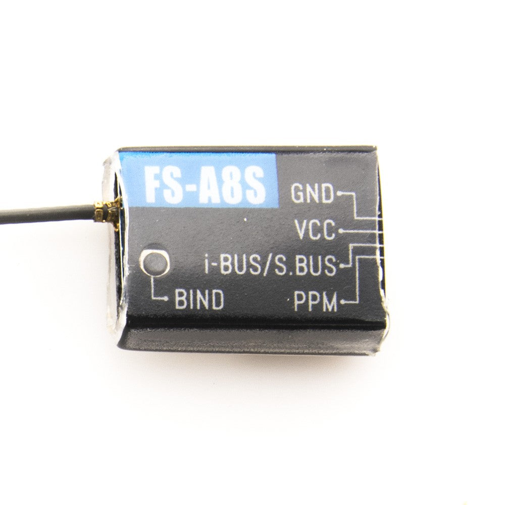 FlySky FS-A8S FS A8S 2.4G 8CH Mini Receiver with PPM i-BUS SBUS Output