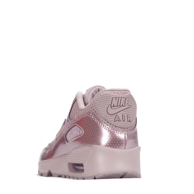 nike junior air max 90 leather trainer rose / pink / white