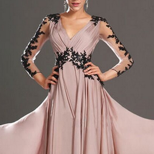 Pink Elegant Lace Wedding Banquet Dress