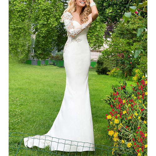 Sweet Lace Mermaid Banquet Evening Dress