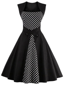 Vintage Sweet Heart Polka Dot Skater Dress