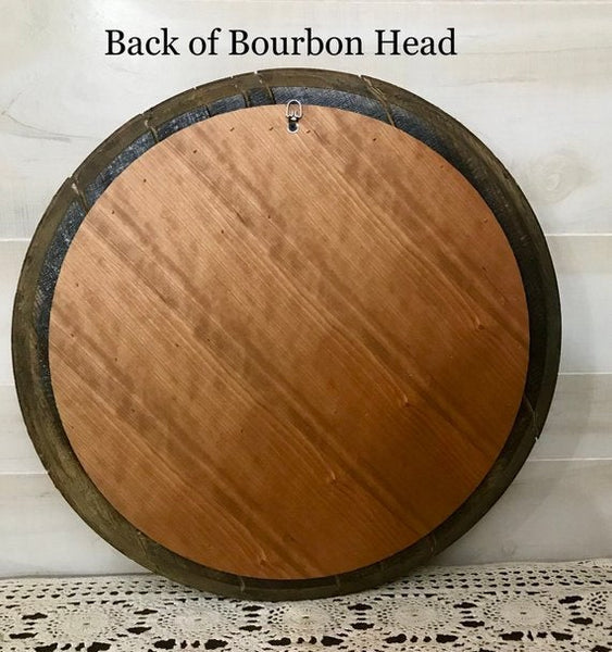 Kentucky Bourbon Barrel Head for Weddings, Anniversaries, Housewarming Gifts, Home Decor