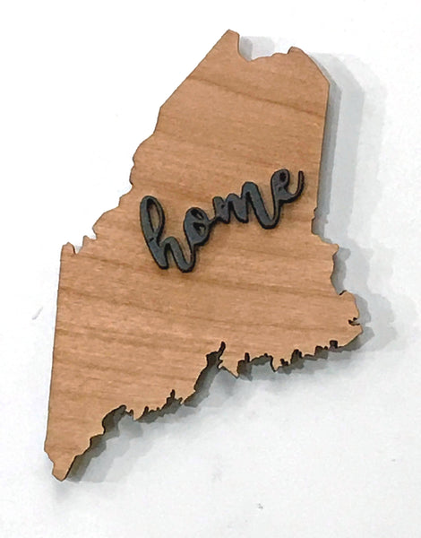 "Maine Wood Sign - Engraving Option - 21"" x 14"""
