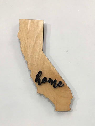 "California Wood Sign - Engraving Option - 17.5"" x 15"""