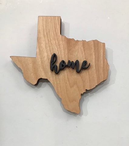 "Texas Wood Sign - Engraving Option - 18""  x 15"""