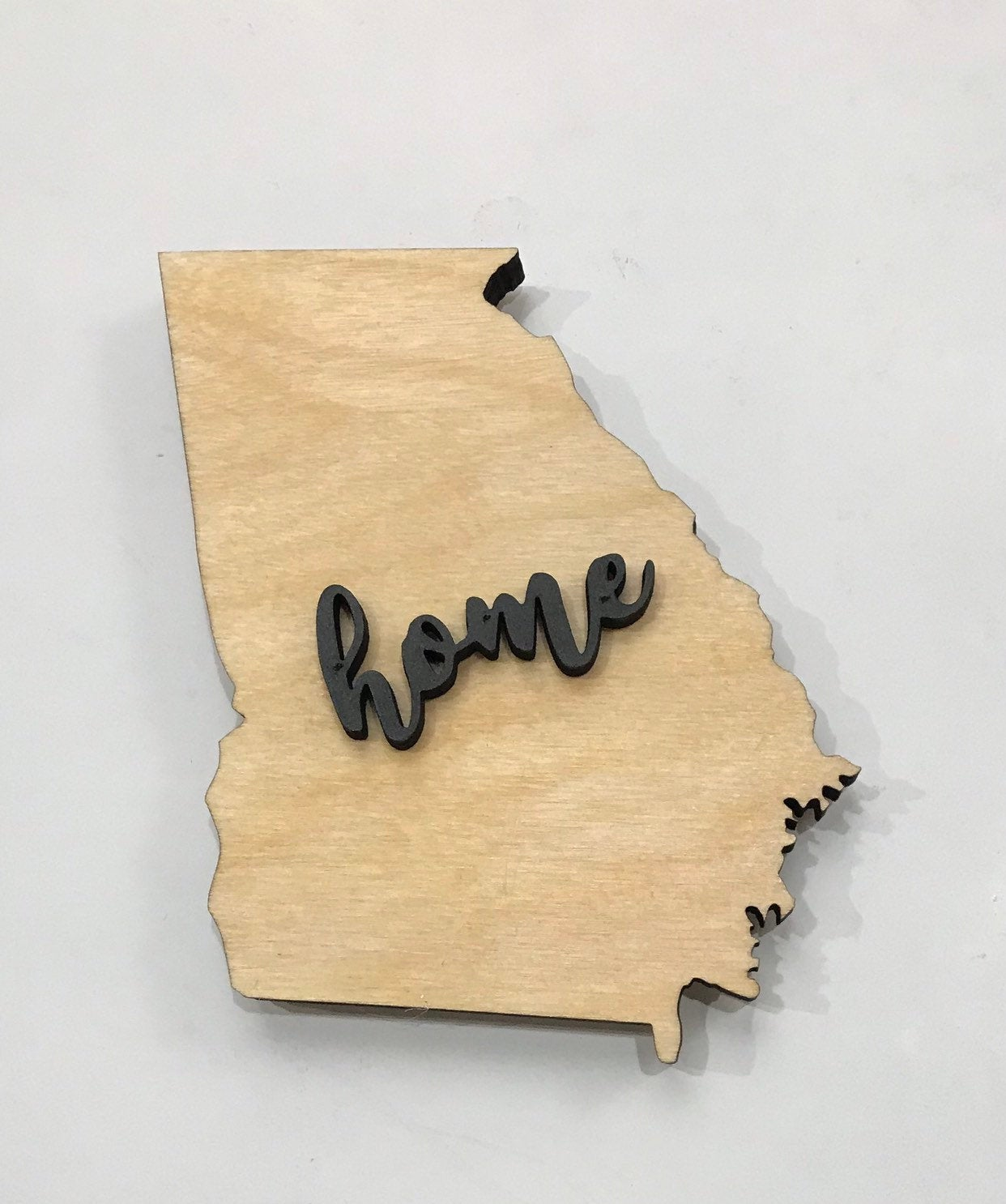 "Georgia Wood Sign - Engraving Option - 18""x15"""
